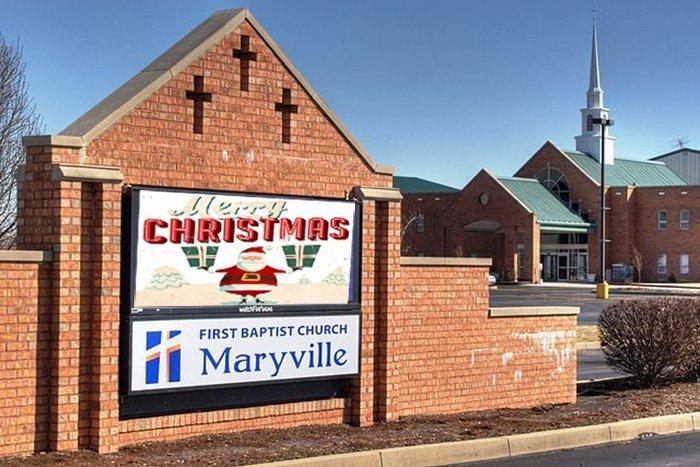 Christmas led churh signs