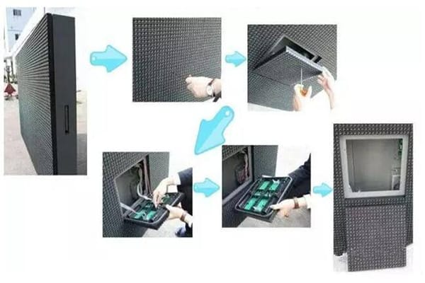 front access led display