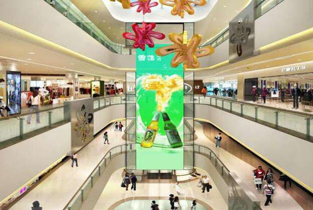 led screens for shopping mall