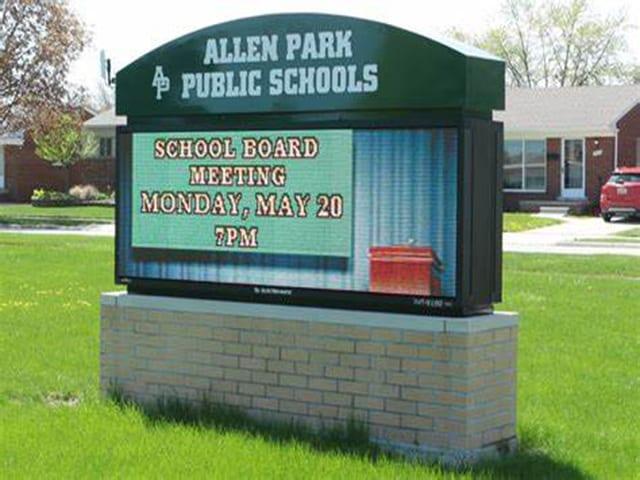 margin signs for school